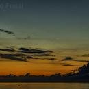 The Moon, Jupiter and Venus in aurora on the sea.,                                Roberto Frassi