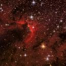 Cave Nebula (Sh2-155) in HaLRGB,                                Stuart Goodwin