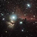 Flame and Horsehead Nebulae,                                Clinton Boyd