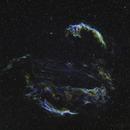 Veil Super Nova Remnant - Cygnus Loop in SHO,                                jeff2011