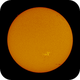 Full Disk of Sun on June 10, 2020,                                Chappel Astro