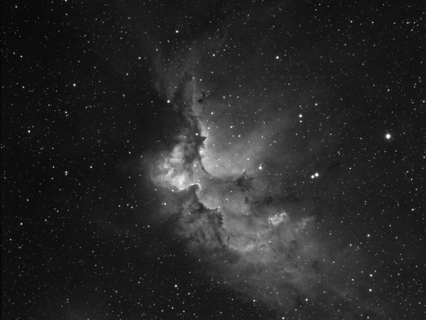 The Wizard Nebula NGC 7380 in H-alpha,                                Barczynski