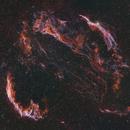 Cygnus Loop, Ha OIII SII RGB composite,                                Jeff Bottman