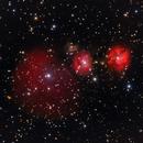Sh2 254 Emission Nebula - LRGB,                                Mike Mulcahy