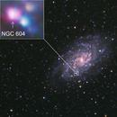 NGC 604 in the Triangulum Galaxy (M33) -- Nikon D5300 & 200 mm Telephoto lens,                                Nick Large