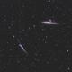 Walfisch und Hockeyschlägergalaxie NGC4631 und NGC4656,                                Juergen