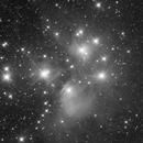 Messier 45 - The Pleiades Star Cluster in monochrome,                                Dean Jacobsen