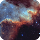 NGC 7000 - BiColor  (Data provided by Christopher Gomez),                                Jim Matzger