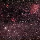 Wide field: M52, Bubble Nebula, NGC 7538 and Sh 157,                                David Redwine