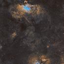 The Eagle Nebula (M16) and Omega Nebula (M17),                                Sasho Panov