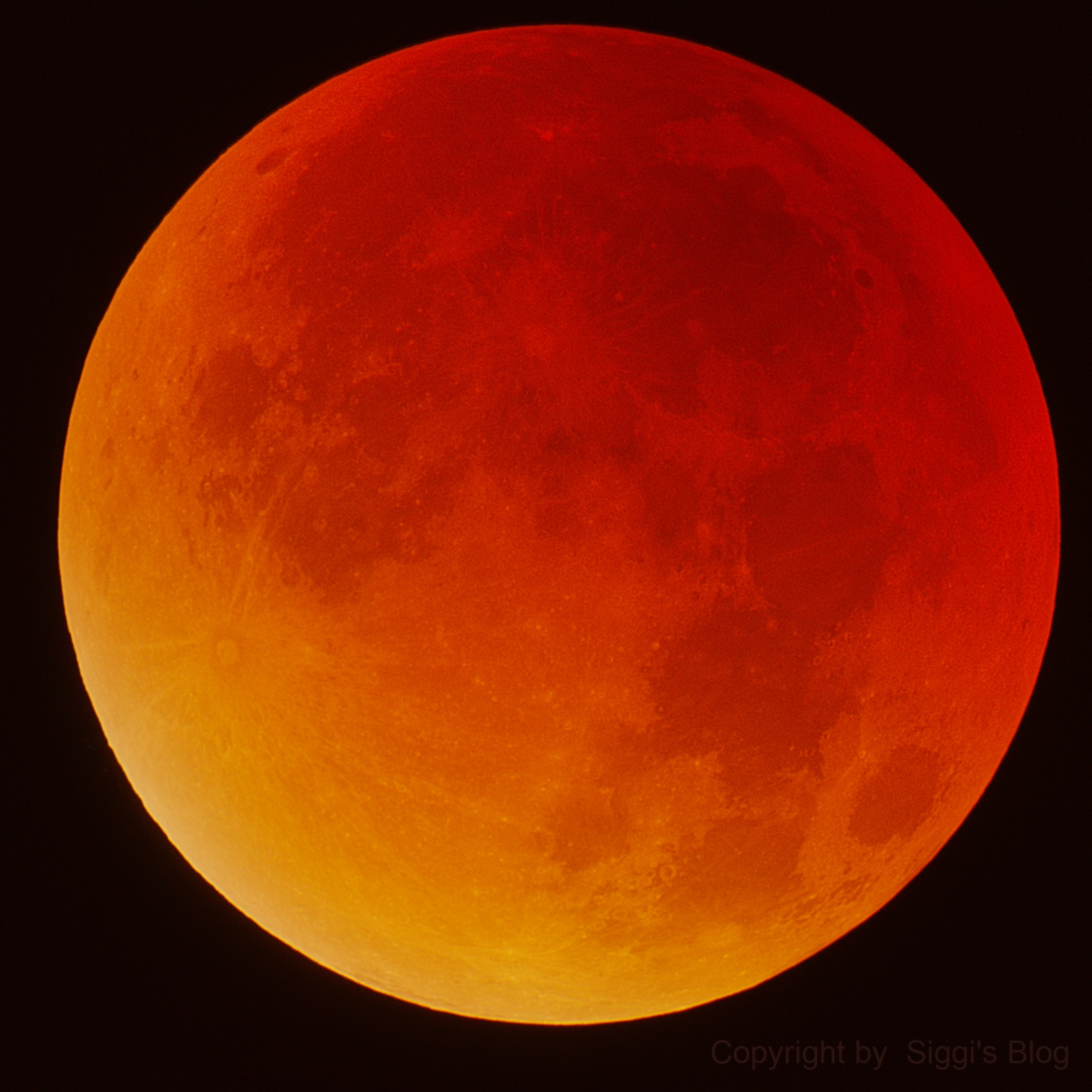 Moon Totality Eclipse 09/27/2015,                                Siegfried