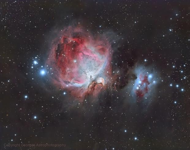 Messier 42/43 en LRVB,                                Georges