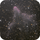 """le fantôme, nébuleuses autour de l'étoile située au centre du """"W"""" de cassiopée! ic 63 et 59,                                Rémi Méré"""