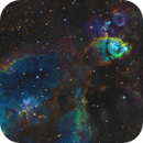 The Fishhead Nebula and Melotte 15 in SHO-LRGB,                                equinoxx