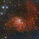 """IC405 """"Flaming Star Nebula"""" LHGB,                                John Massey"""