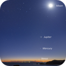 APOD: 2016 August 16 - Five Planets and the Moon over Australia,                                Alex Cherney