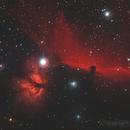 The Flame Nebula [NGC 2024] & Horsehead nebula [IC434],                                astronut1982