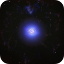 NGC6543 Nebula, mainly a Ha, OIII bicolor image,                                Niels V. Christensen