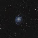 Messier 101, galaxie du moulinet/ pinwheel galaxy,                                gabriel