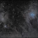 Die staubige Umgebung der Plejaden - M45 / IC438,                                firstLight