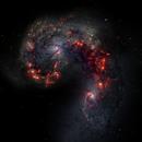 NGC 4038 and 4039 - Antennae Galaxies,                                Mintakaite