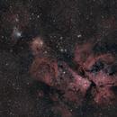 NGC 3293 to NGC 3272 - 4 panel mosaic,                                Fabian Rodriguez...