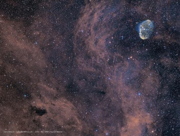 Crescent Nebula - NGC 6888,                                Chris Howard