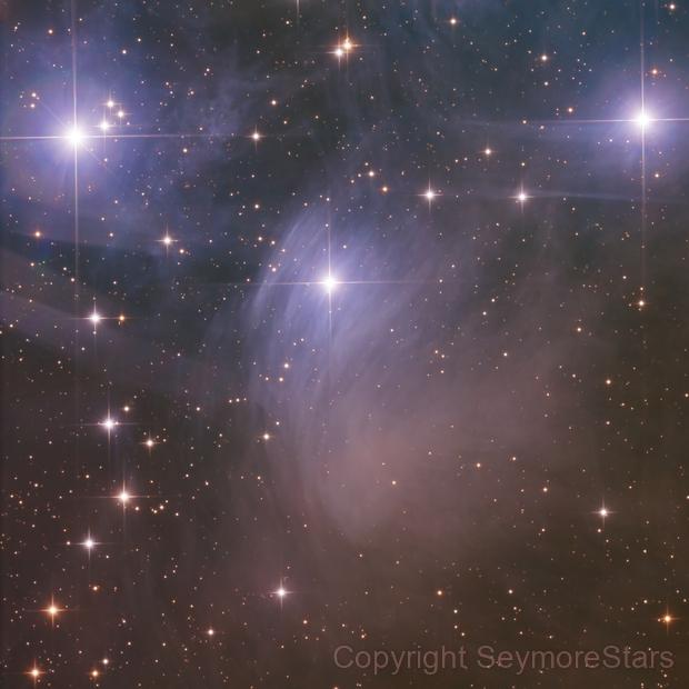 Merope Nebula,                                Seymore Stars
