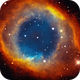 Helix Nebula in Hubble Palette,                                andrealuna