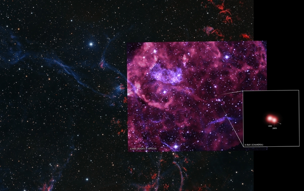 Puppis A Supernova Remnant - Chandra/ROSAT insert,                                Dean Carr