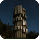 Star trails around the Monument to the Revolution at Mrakovica, national park Kozara (Bosnia and Herzegovina),                                Ivan Bosnar