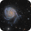 M101 - First light from my remote observatory,                                Bart Delsaert