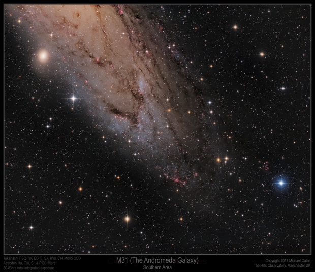 M31 (Andromeda Galaxy) Southern Area,                                Mike Oates