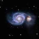 M51 - Whirpool Galaxy in Canes Venatici,                                Peter Schilling