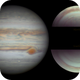 Jupiter and its polar projections,                                Fernando Oliveira...