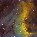 IC 5070  The Pelican nebula,                                Komet