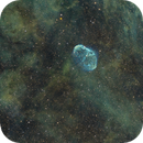 NGC 6888 Crescent Nebula and Soap Bubble (Cygnus) in the SHO Palette,                                  Ben Koltenbah