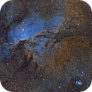 The Fighting Dragons of Ara - Hubble Palette,                                Diego Cartes