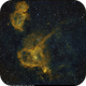 Sh2-199 (Soul Nebula) & IC 1805 (Heart Nebula), SHO and HSO, 4 Aug + 30 Nov 2017,                    David Dearden