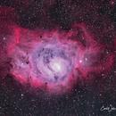 M8 Lagoon Nebula,                                  Carl Weber