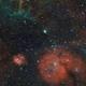 Vela SNR -  GUM14 (RCW27) , NGC 2626 , GUM 15 (RCW32) , GUM 17 (RCW33) , RCW36 , Collinder 197 , Trumpler 10,                                Michel Lakos M.