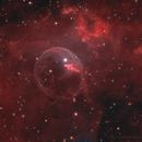 NGC 7635 Short and Longtime Exposures mixed,                                Sascha Schueller