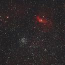 NGC7635 (Bubble neb) & M52 / Canon 600D+Canon 400mm L f/5.6 / SW EQ-M35 / SIRIL 0.9.11,                                  patrick cartou