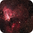 Swan Nebula M17, Sh2-45 LRGB and NB Enhanced RGB,                                  TWFowler