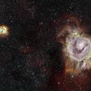 M8 and M20 - Lagoon and Trifid Nebulae,                                Carles Sunyol