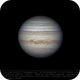 Jupiter 11 Jun 2018 - 6 min derotation - South on top,                                Seb Lukas