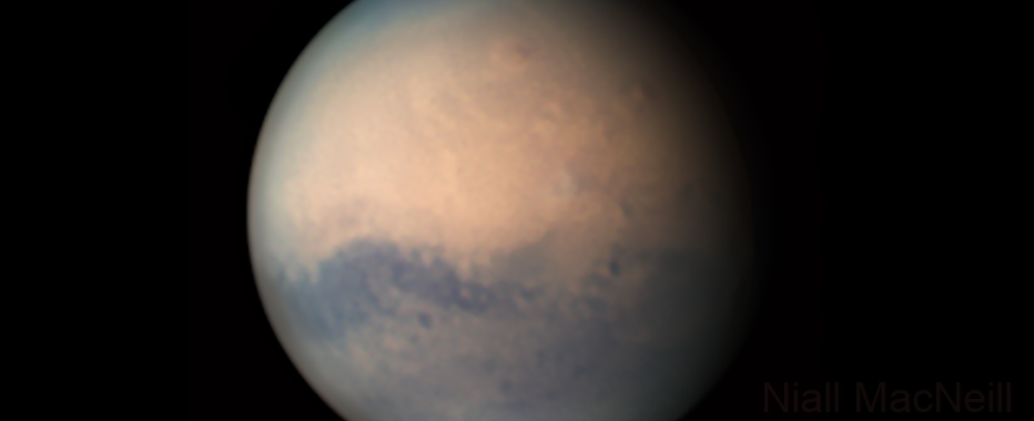 Mars 28th August & the Arsia Mons Elongated Cloud (AMEC),                                Niall MacNeill