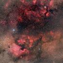 North America Nebula, Pelican Nebula and Butterfly Nebula,                    Valentin