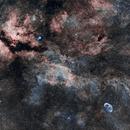 Sadr region including the Crescent nebula in HOO,                                Des