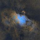 M16 Eagle Nebula in Hubble Palette,                                JohnAdastra